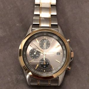 SEIKO stainless steel chronograph watch